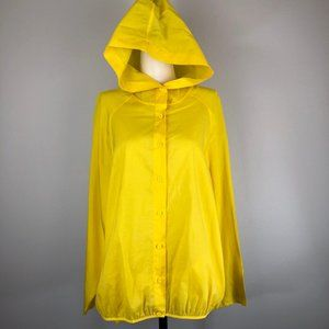 Zuczug Yellow Silk and Cotton Designer Hoodie